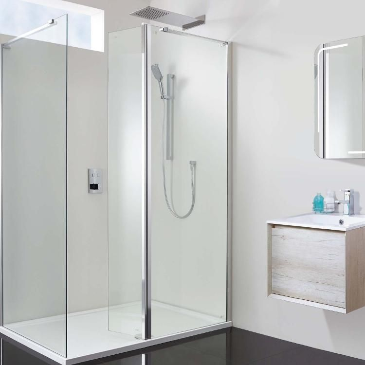 Phoenix Bathrooms Techno 10mm Hinged WalkIn 120 x 90