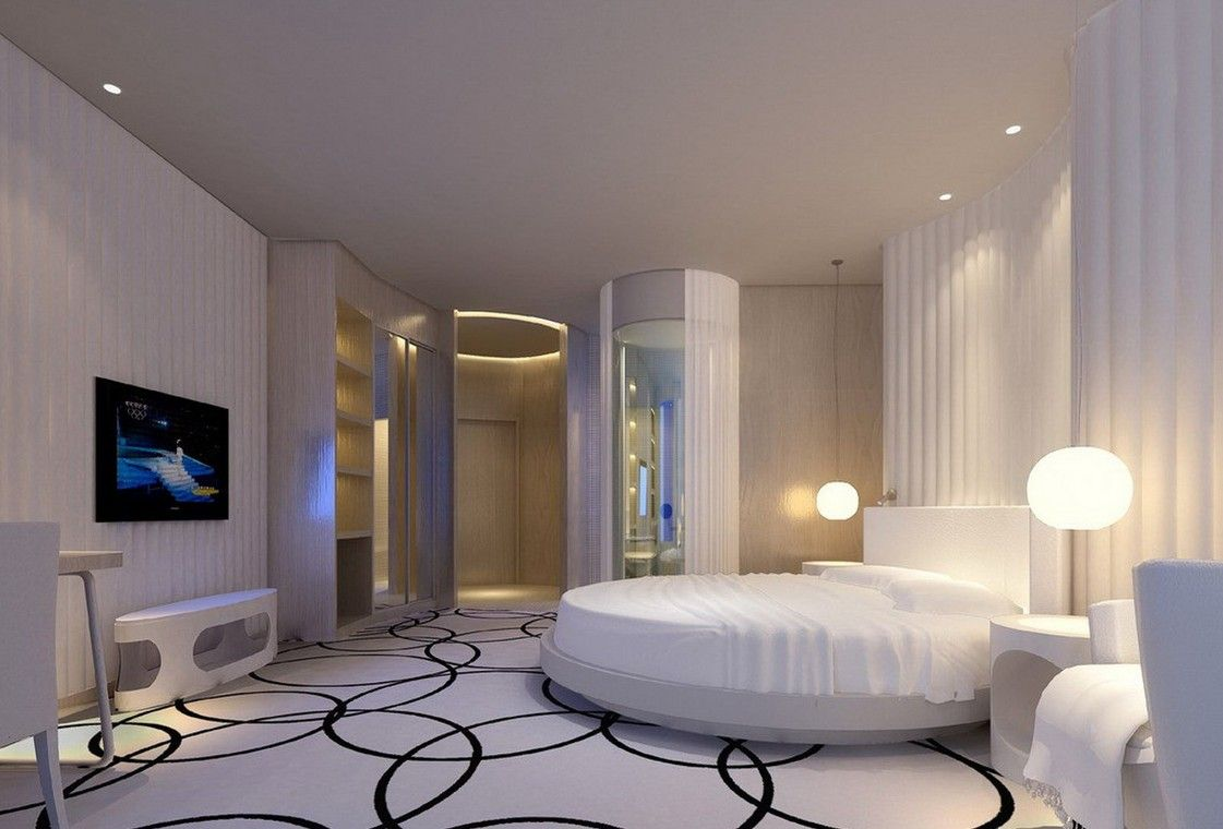 25 magnificent unique rounded bed bedrooms luxury for Round bed design