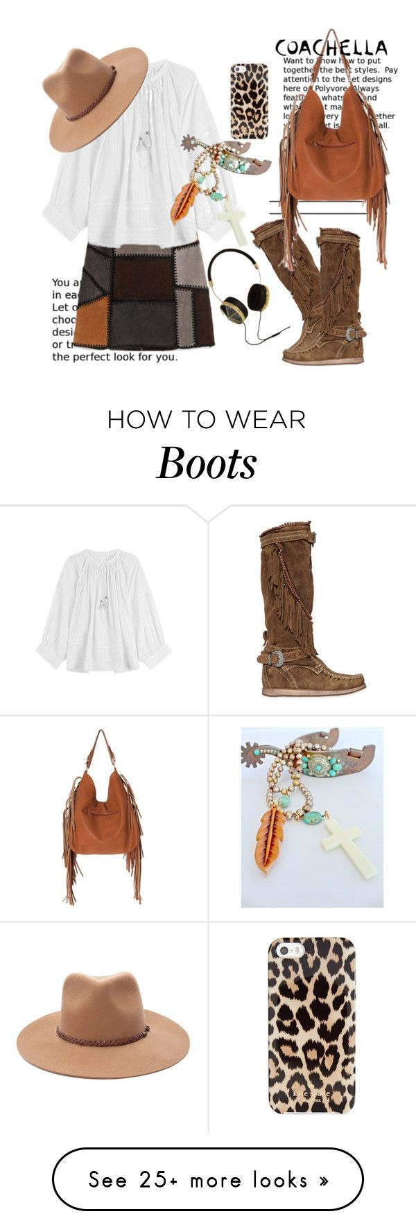 """Coachella Style"" by hattie4palmerstone on Polyvore featuring Zadig & Voltaire, El Vaquero, Kate Spade, Frends, Sans Souci, Forever 21 and packforcoachella"