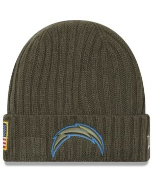 watch 7f05b 040af NEW ERA LOS ANGELES CHARGERS SALUTE TO SERVICE CUFF KNIT HAT.  newera