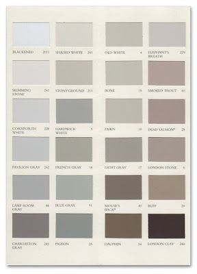 Farrow And Ball Paint Chips What Is This 38 Shades Of Grey