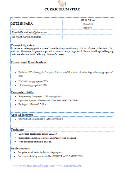 format for cv for engineering student latest resume http www