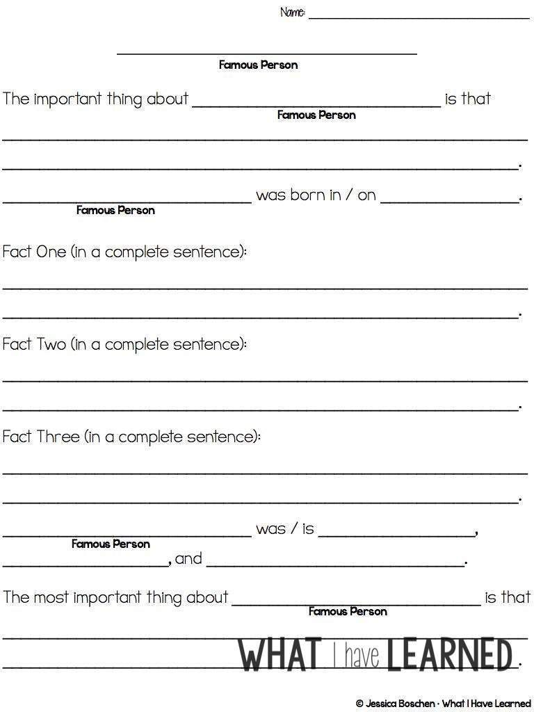 Teach Students To Write Biography Reports Biography Report Biography Graphic Organizer Writing A Biography