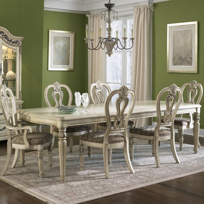 Messina Dining Table In Antiqued Ivory  Home Thoughts  Pinterest Classy Ivory Dining Room Set Decorating Design