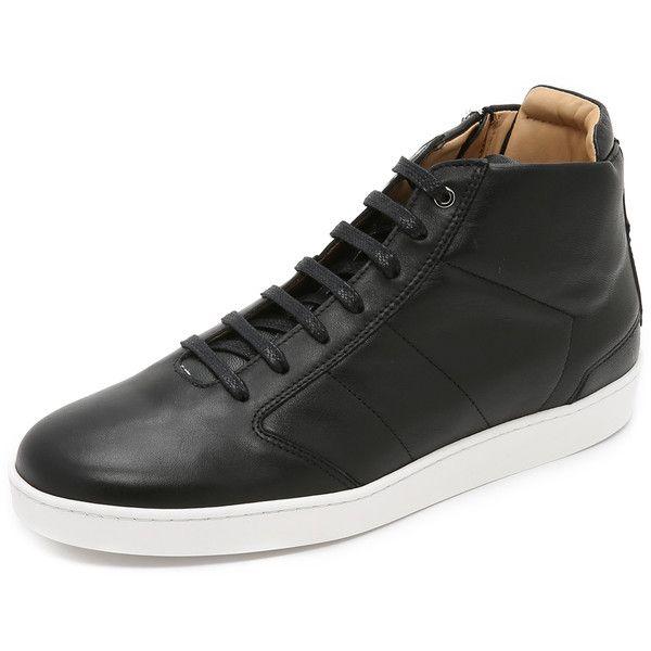 WANT Les Essentiels de la Vie Lennon Mid Top Sneakers (£170) ❤ liked on Polyvore featuring mens, men's shoes и men's sneakers