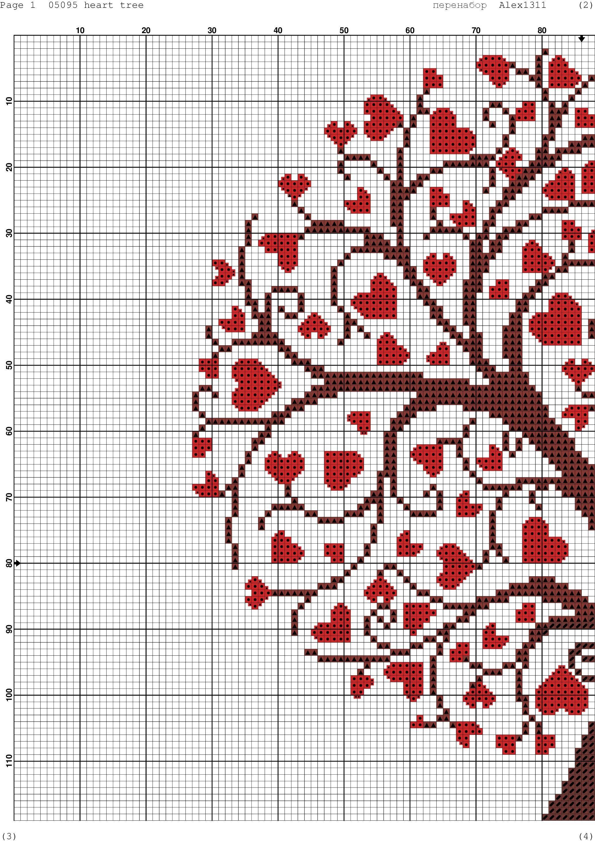 дерево любви 4   HOBBY   Pinterest   Punto de cruz, Puntos y Bordado