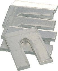 Crl 1 8 X 3 Aluminum Horseshoe Shims 100 Pack By Crl 183 86 For Use When Installation Of Plastic Shims I Hardware Shelf Brackets Supports Home