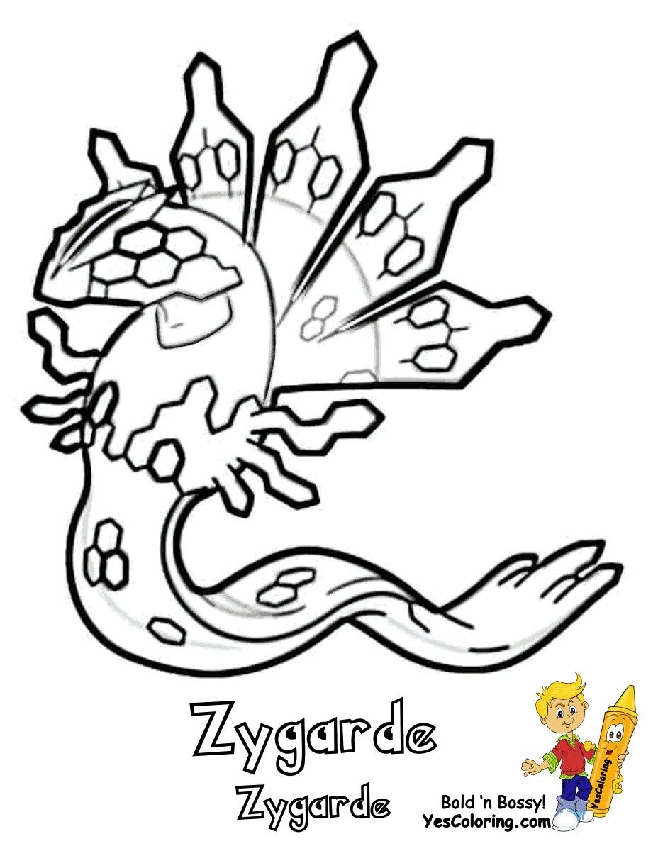 Zygarde Pokemon Coloring Pages New Pictures