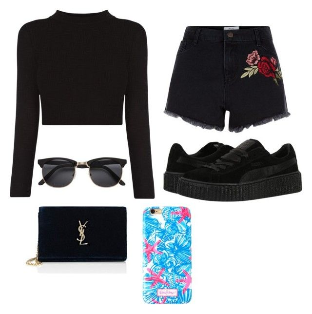"""^^"" by kingoliversykes on Polyvore featuring New Look, Puma, Yves Saint Laurent en Lilly Pulitzer"