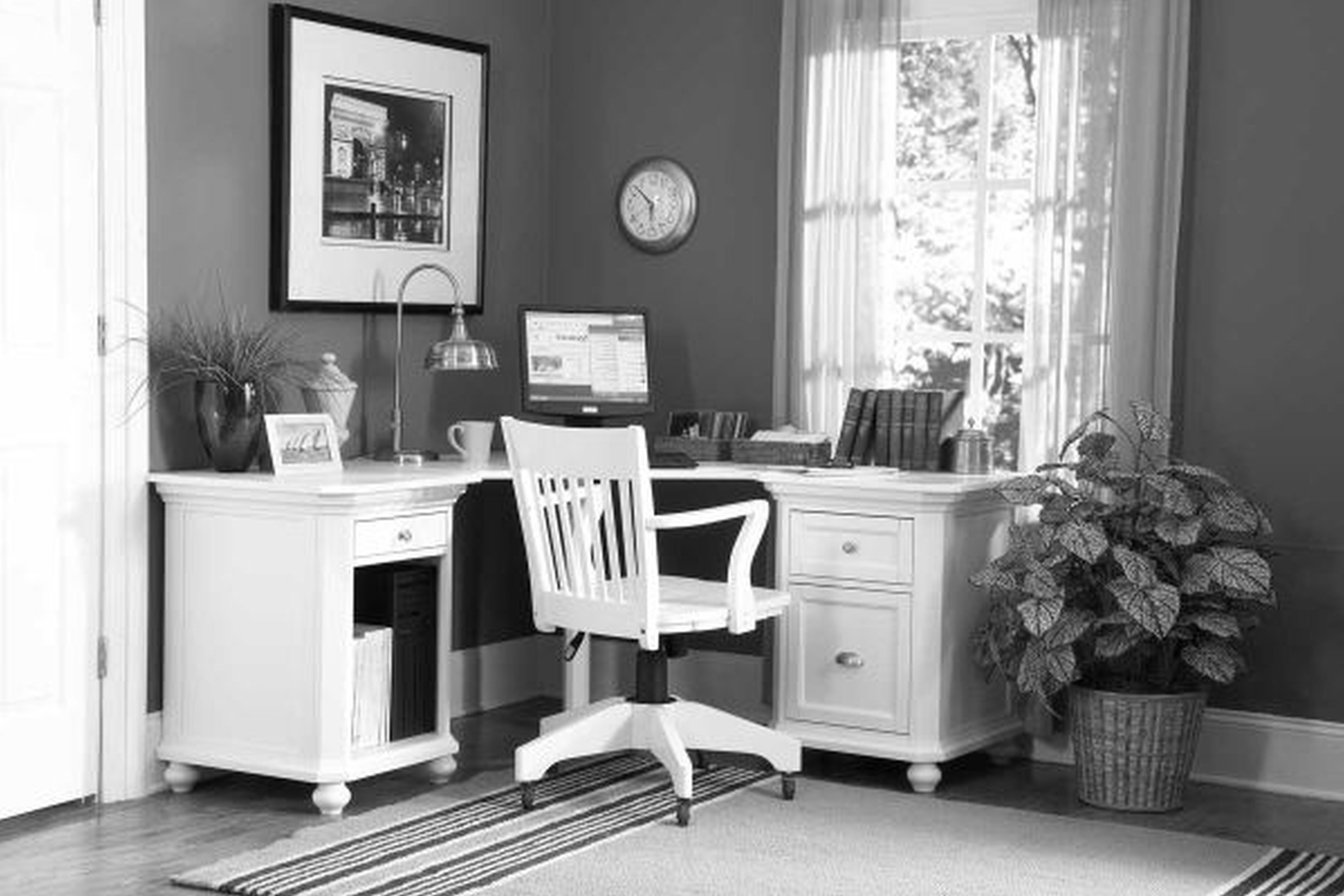 download design home office corner. A Home Office With Corner Desk. The Area Rug Goes Up To Feet Download Design