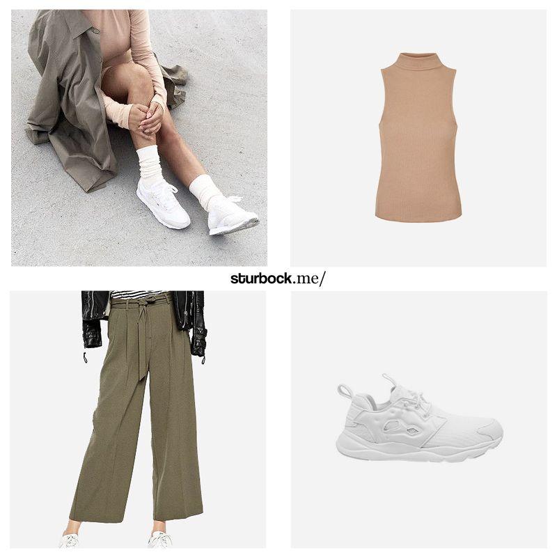 Gehen Hand in Hand: Beige und Khaki. Shop the Impression: http://sturbock.me/0eu