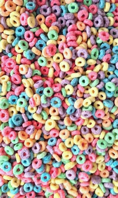 Colorful Fruit Loops Cereal Wallpaper Background