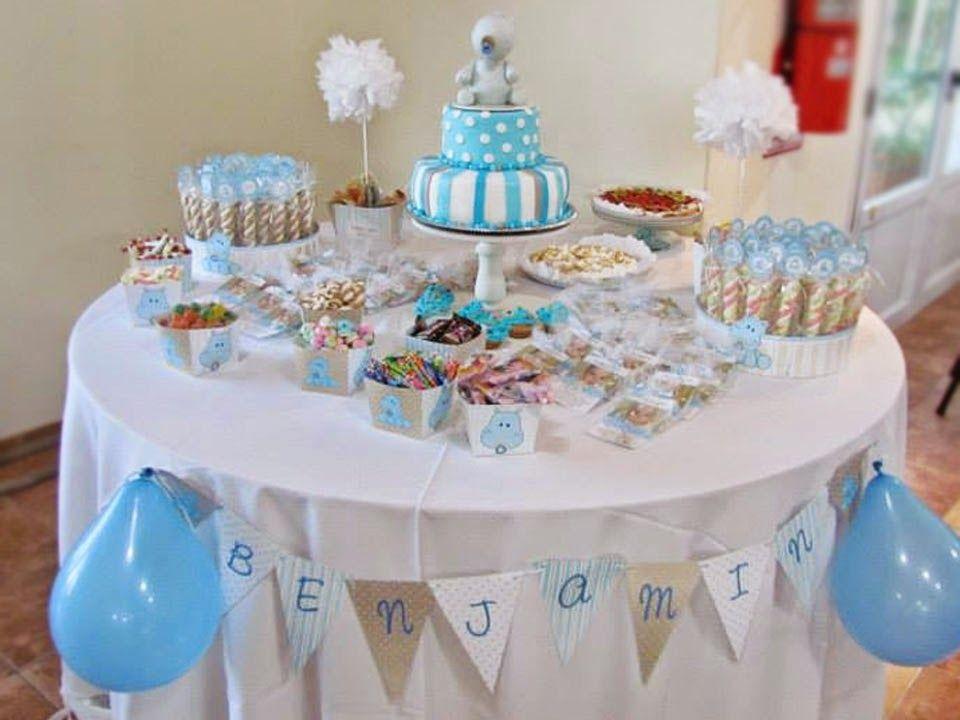 Resultado de imagen para decoracion para bautismo de varon for Mesa de dulces para baby shower nino