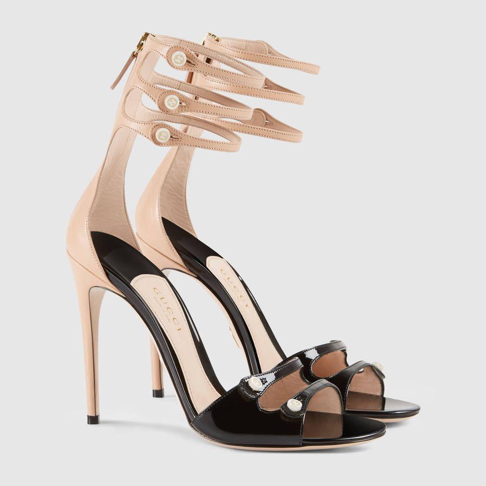 Gucci Black Patent leather sandals - $995.00