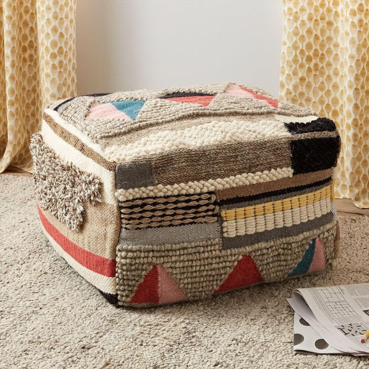 Boho Wool Pouf | WEAVESPO | Pinterest | Room ideas, Ottomans and Room
