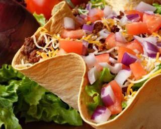 Salade mexicaine au bœuf allégé en bol de taco