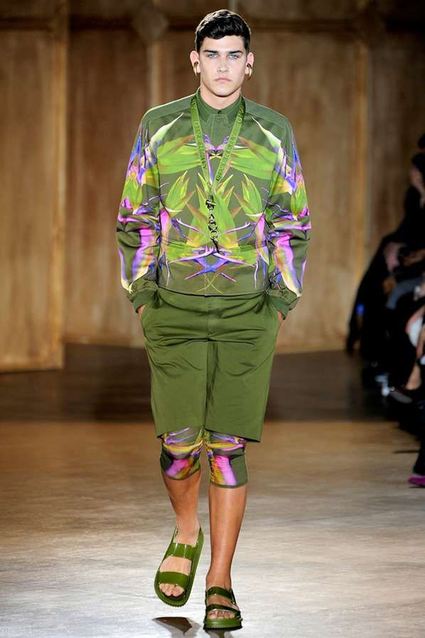 "I found this under ""Men's Fashion"" and all I can think of is WTF!!!! The Givenchy 2012 Spring/Summer Line Boasts Bold Green Ensembles #coachella #mensfashion trendhunter.com"