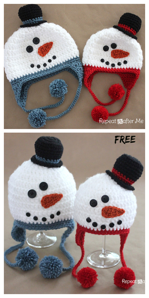 Crochet Snowman Hat Free Patterns Crochet Toddler Hat Snowman Hat Pattern Chunky Yarn Crochet