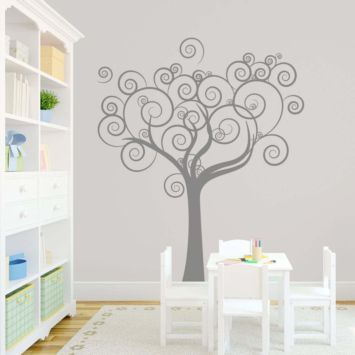 vinyl family tree wall decals | Whimsical Love Tree Wall Decal ...