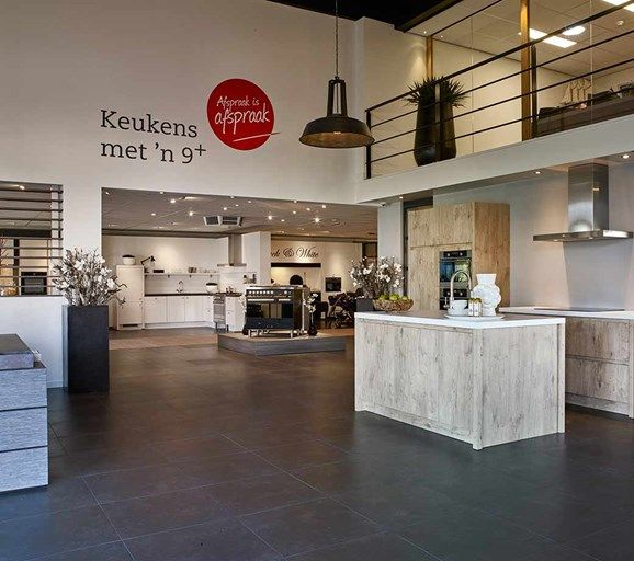 Entree van de showroom van Pelma Keukens in Goes.