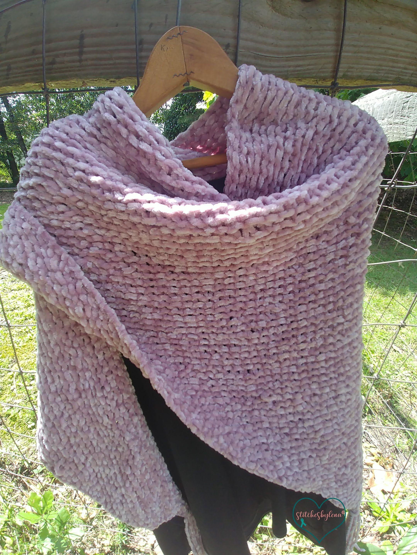 Free Easy Beginner Knitting Pattern For Velvet Shawl The Softest