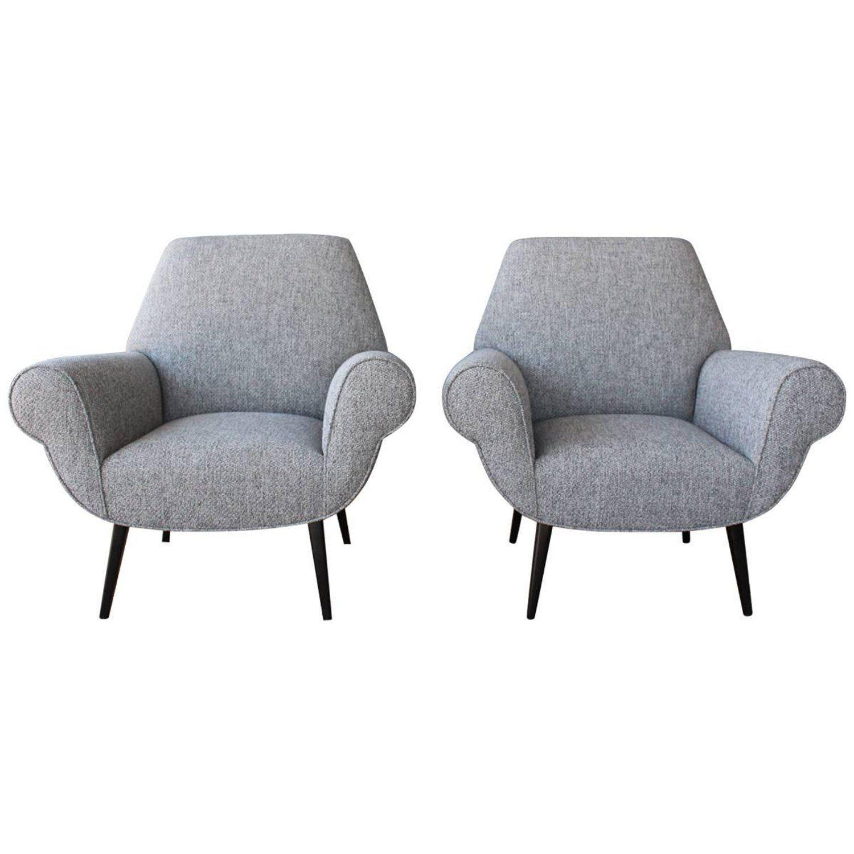 Pair of Midcentury Italian Armchairs   Italian armchairs ...