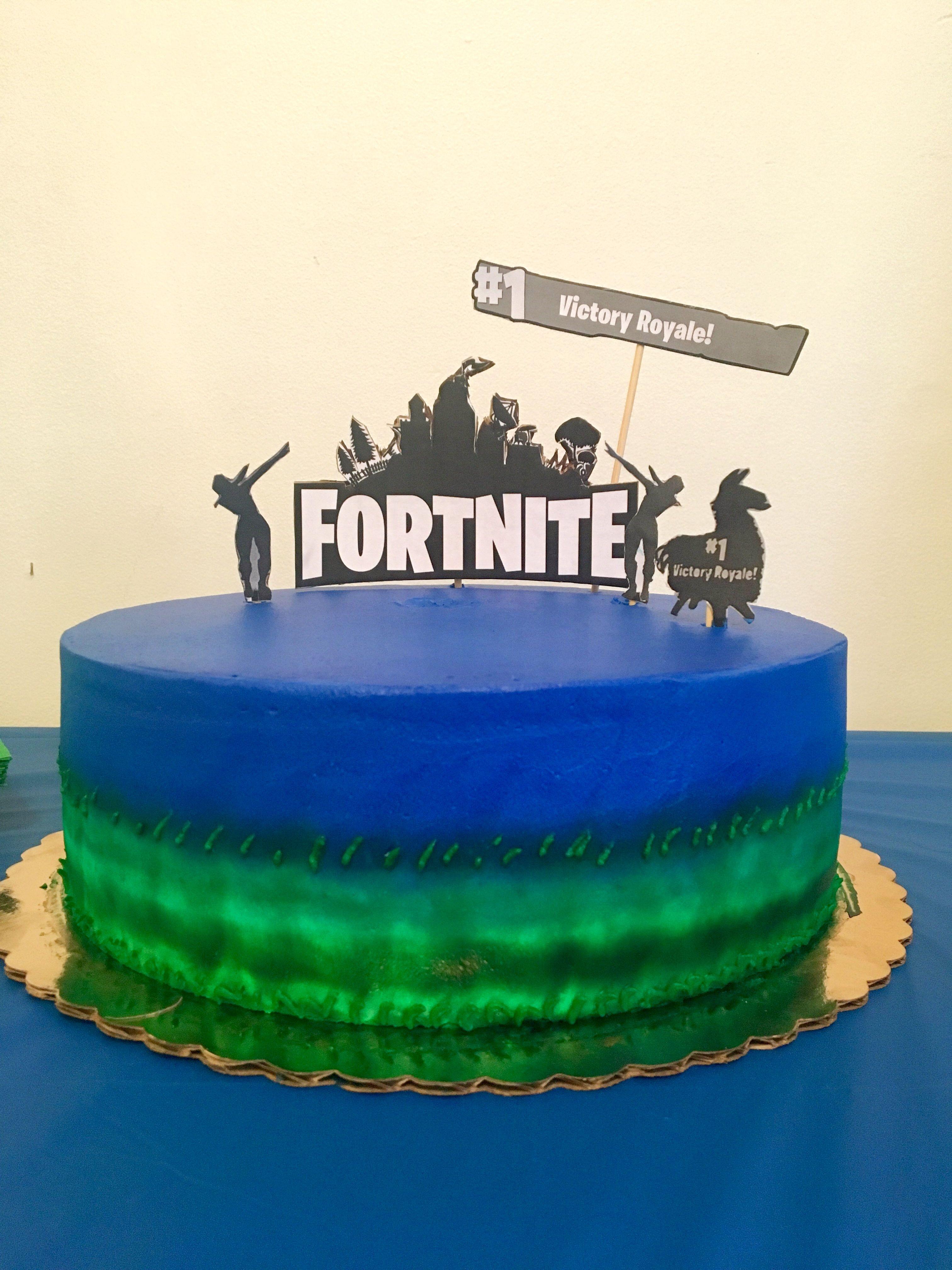 Fortnite birthday cake Birthday party cake, Birthday