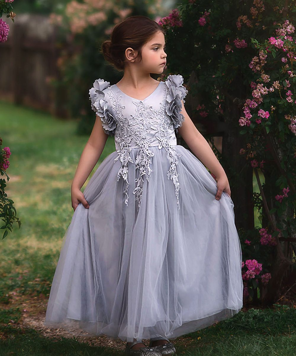 Trish scully child silver bianca gown toddler u girls baby