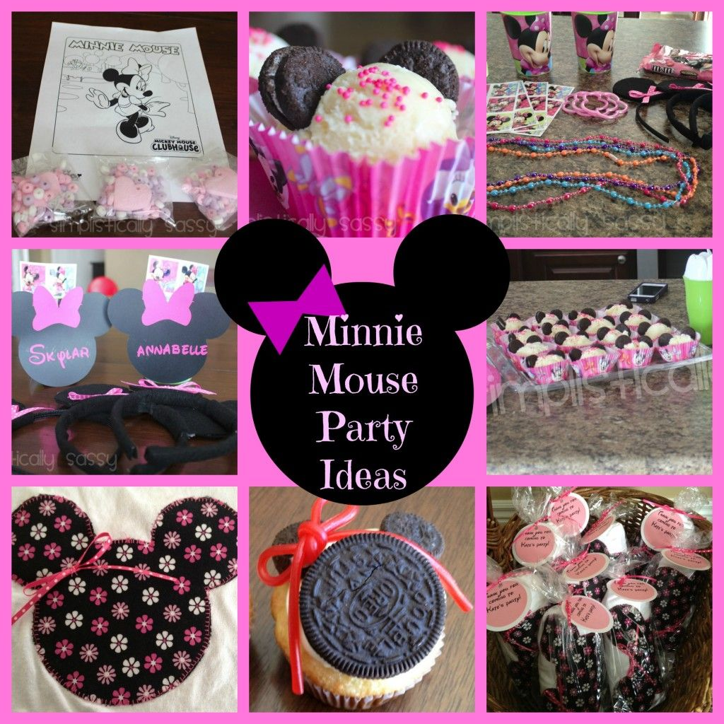 Minnie Mouse Party Ideas favors activities desserts and MORE