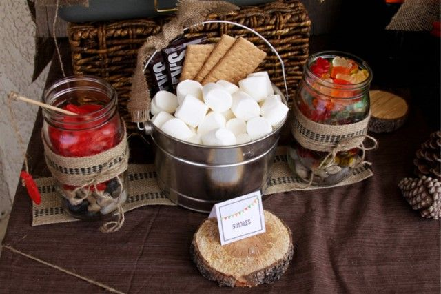 Outdoor Backyard Camping Party Ideas I Like The Burlap