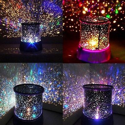 LED Star Master Sky Starry Night Projector Colors Light Lamp Kid
