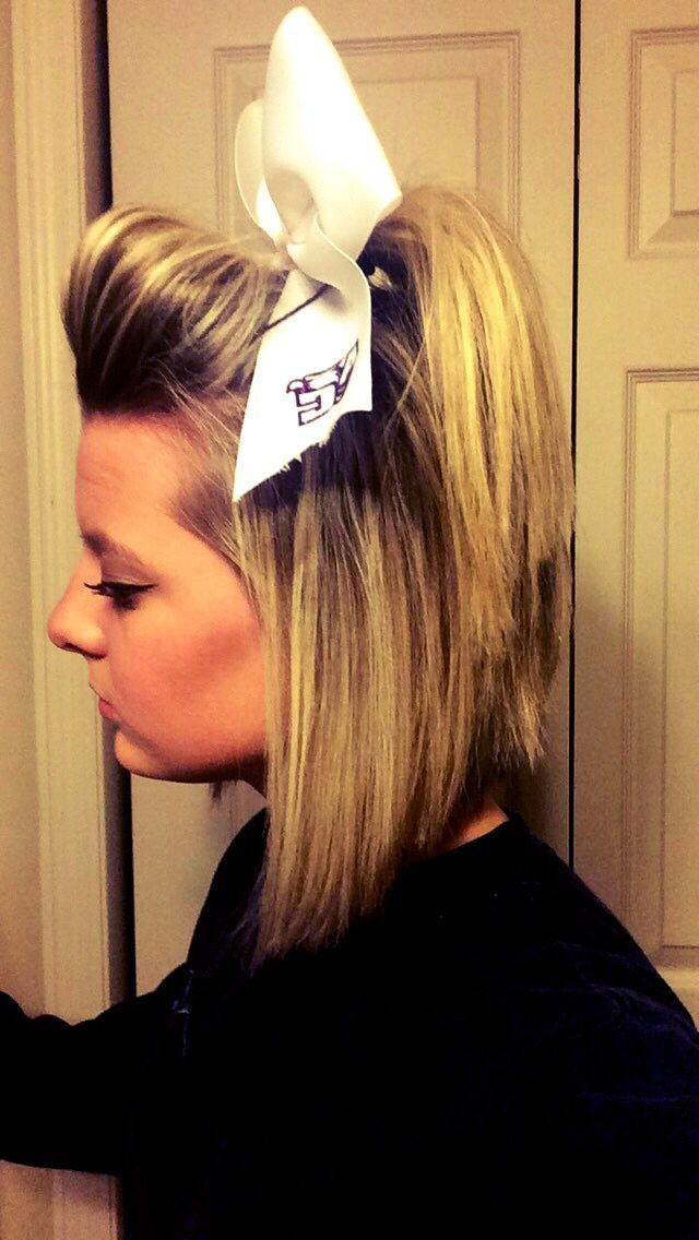 58ec44d05fd7fb0730da48e9e5d879e5 Jpg 640 1 136 Pixels Cheerleading Hairstyles Cheer Hair Short Hair Styles
