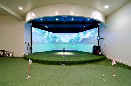 Find this home on Realtor.com  #mancave #golf #simulator #puttinggreen