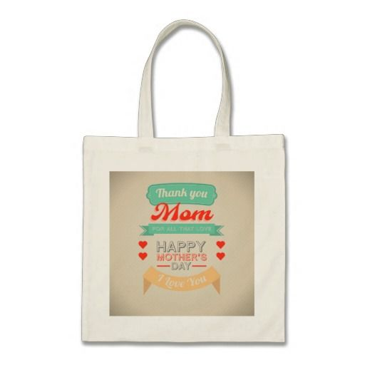 Happy Mother's day typography design Bag