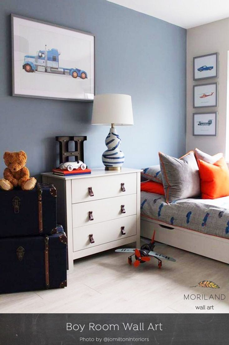 Kids Room Wall Decor Unique Toddler Boys Room Decor Truck Print