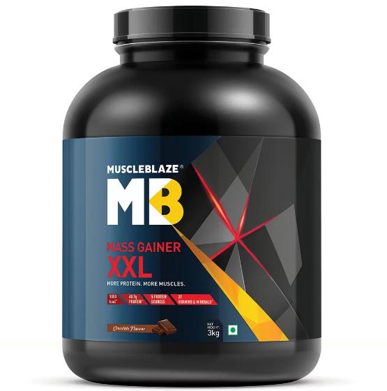 Muscleblaze Mass Gainer Xxl More Protein More Muscle 6 6 Lb Chocolate Mass Gainer Weight Gainer Best Mass Gainer