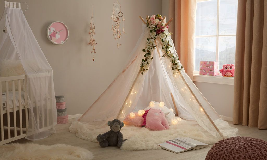 kinder tipi zelt selber machen m max kinderzimmer. Black Bedroom Furniture Sets. Home Design Ideas