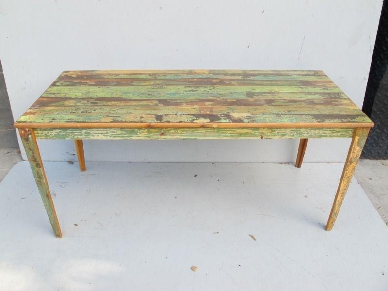 mesa de comedor rustica patinada mercado libre