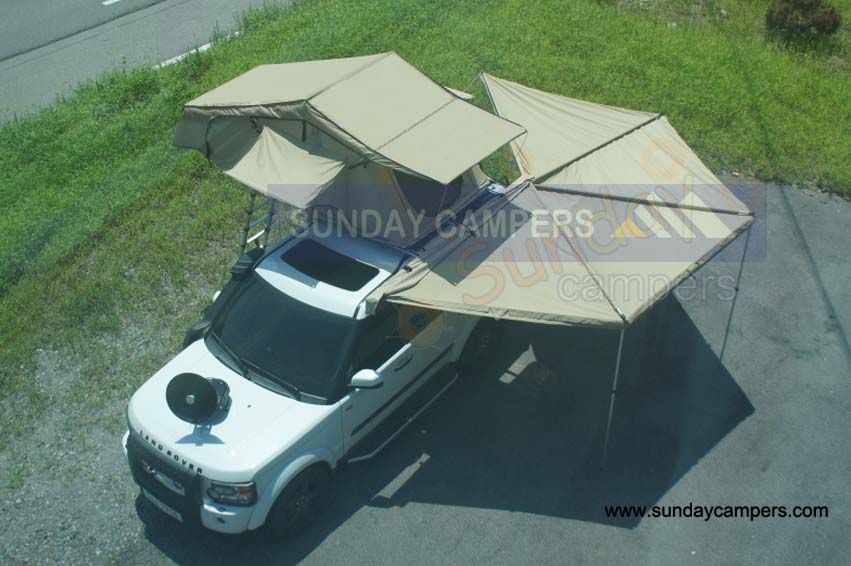 4WD Off Road Car Roof Tents With Swing Out Awning