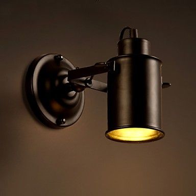 Vintage Wall Lamp Industrial Black Wrought Iron Wall Light Retro