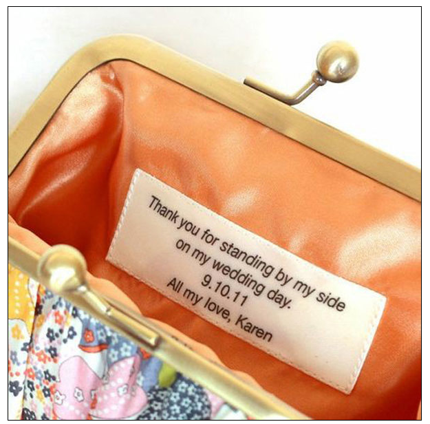 Gift idea for bridesmaids or maid of honor.  Love the little personal touch she can use over again.