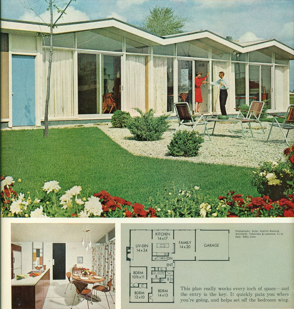 Better Homes Gardens Homes For All America Plan 3307 B Mid Century Modern House Mid Century Modern Design Vintage Architecture