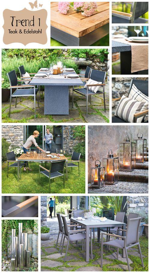 Einladende Gartenmöbel im Materialmix Holz und Alu findet Ihr in - gartenmobel alu holz