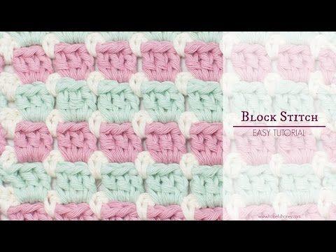 CROCHET: How to crochet the block stitch | Bella Coco - YouTube ...