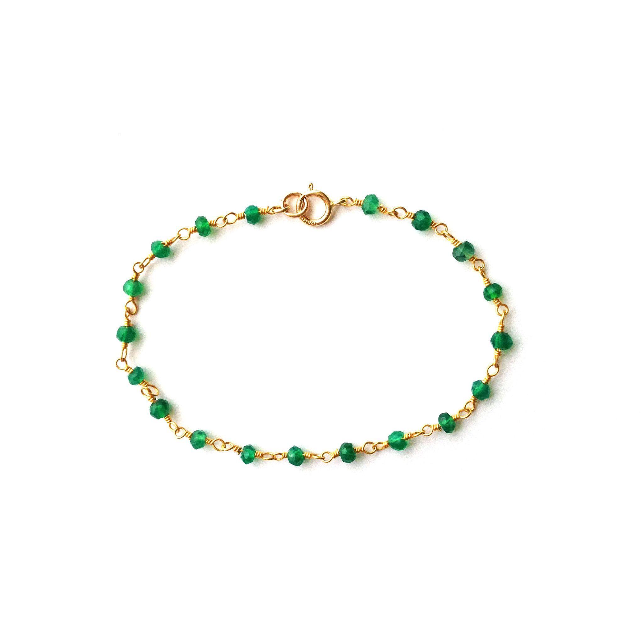 Green Onyx Beaded Bracelet