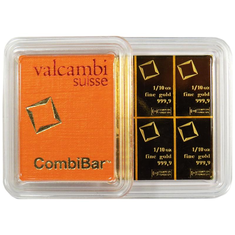 1 602 23 10 X 1 10 Oz Valcambi Suisse 9999 Fine Gold Combibar 1 Troy Oz Gold Bars For Sale Gold Bullion Bars Gold