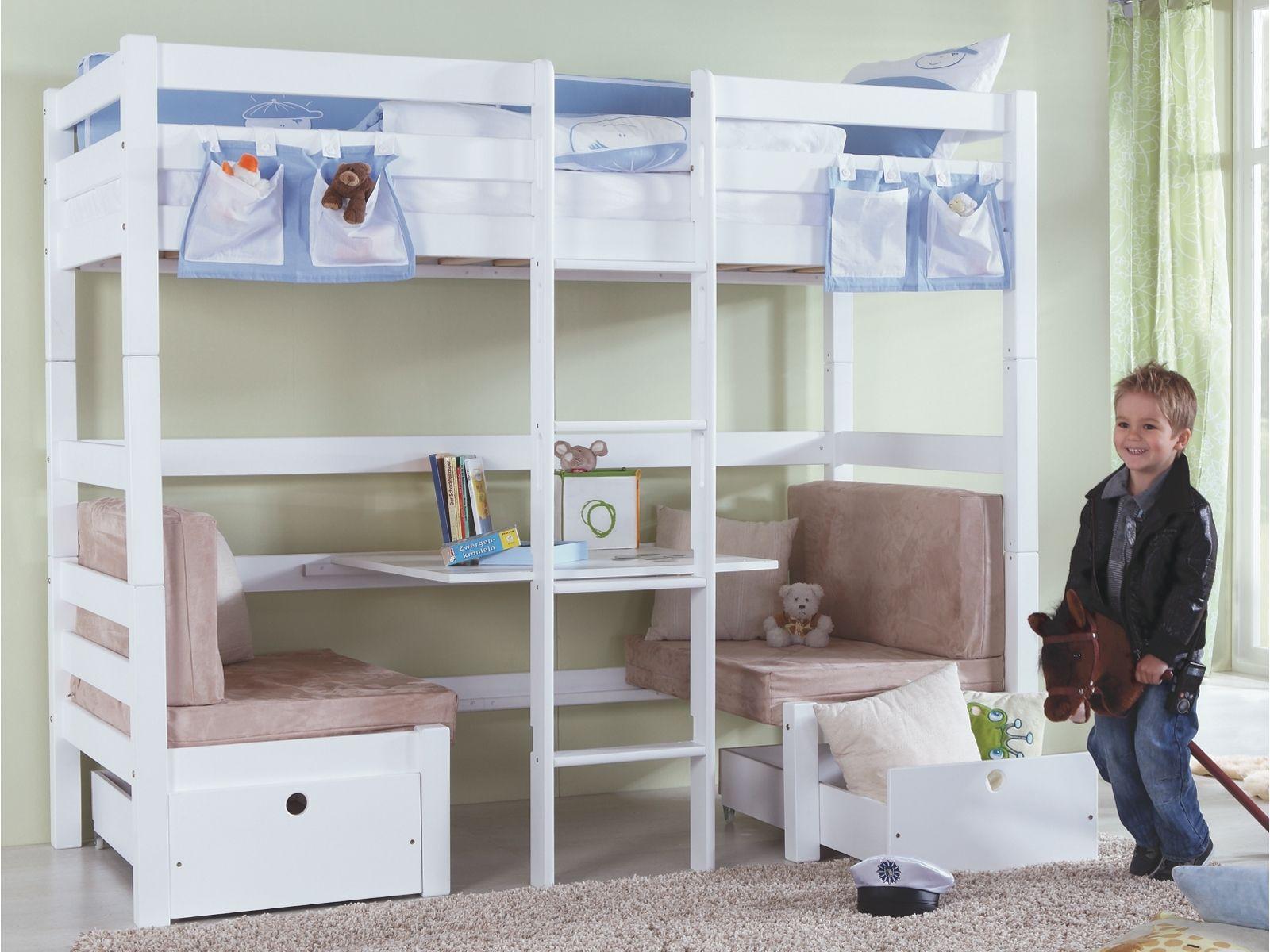 hochbett mit sitzplatz gaestebett soooooo cute camarotes bett etagenbett y hochbett. Black Bedroom Furniture Sets. Home Design Ideas