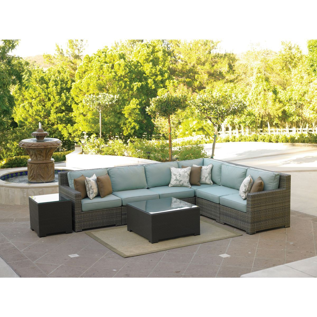 Malibu Sectional With Cushions Northcape Patio Furniture Patio Furniture Teak Patio Furniture