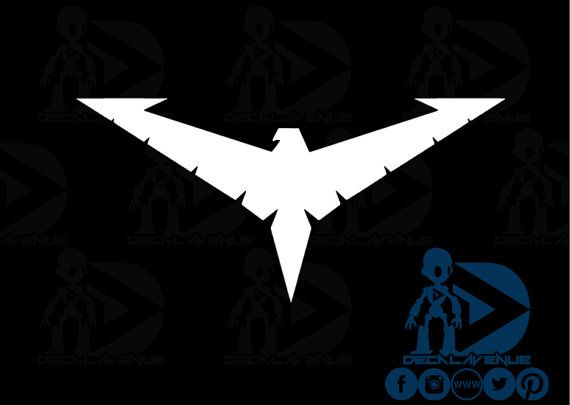 Nightwing Chest Symbol Logo New 52 Logo Vinyl Decal By Decalavenue