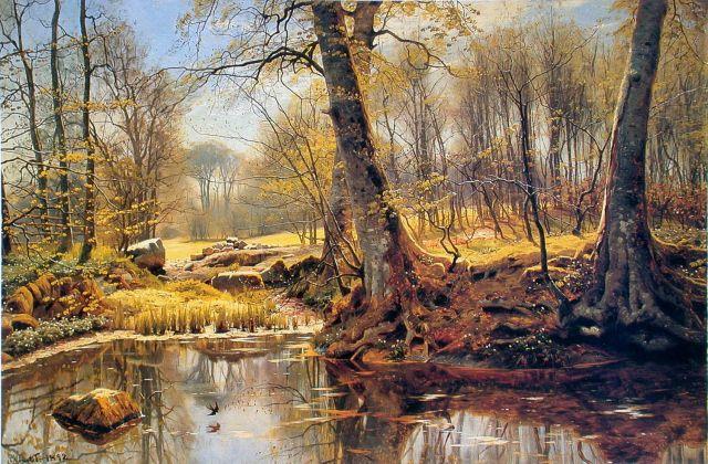 Spring Landscape, by Peder Monsted